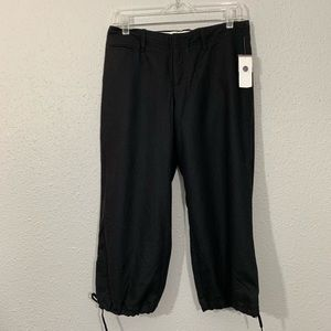 GAP NWT RETRO Fully Lined Wool Black Capris Size 4